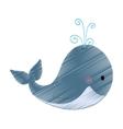 whale cute cartoon vector image vector image