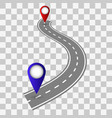 winding road on a transparent backgroundnter vector image vector image