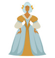 woman in ball gown and wig with bows baroque vector image vector image