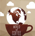 World coffe vector image vector image