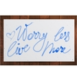 worry less live more watercolor lettering vector image