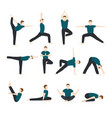 yoga man men yogi character training vector image vector image