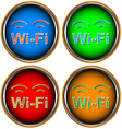Four Wi-Fi icons vector image
