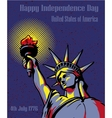 Happy Independence Day 4 July US holidays concept vector image