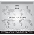 Set of halftone continents for design vector image