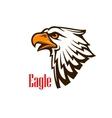 Eagle head mascot emblem vector image