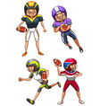 A simple coloured sketch of the American football vector image vector image