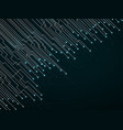 abstract background of glowing lines and dots vector image vector image