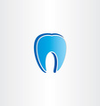 abstract tooth dentist symbol vector image vector image