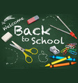 background welcome back to school vector image