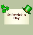 banner with clover and hat klpak symbol st vector image vector image