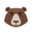 bear sleeping emoji grizzly asleep emotion face vector image vector image