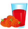 berries strawberries and juice vector image vector image