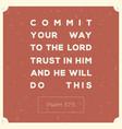 bible verse for encouragement typography design vector image