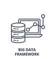 big data framework line icon concept big data vector image