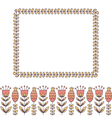 Border of flowers and leaves frame vector image vector image