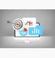 business report with different charts and diagrams vector image