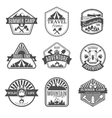 Camping Isolated Icons Set vector image