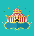Classical Circus tent with banner for text vector image vector image