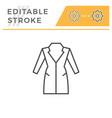 coat editable stroke line icon vector image vector image