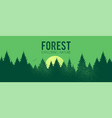 coniferous forest silhouette background nature vector image