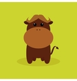 Cute Cartoon Buffalo vector image vector image