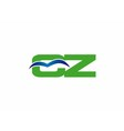 Cz logo vector image vector image