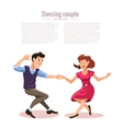 dancing men and woman vector image