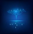 digital tree vector image vector image