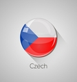 European flags set - Czech vector image vector image