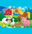 farm animals theme image 5 vector image vector image