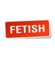 fetish square sticker on white vector image vector image