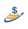 financial accounting consulting money logo vector image vector image