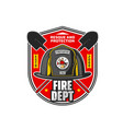 firefighting department tea or brigade retro icon vector image vector image