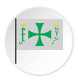 flag of christopher columbus icon circle vector image vector image