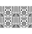 folk art seamless pattern mexican black vector image vector image