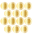 gold circle labels vector image vector image