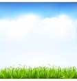 Grass And Sky vector image