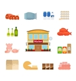 Grocery icons vector image vector image