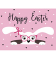 Happy Easter bunny girl with glasses vector image vector image