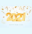 happy new year 2021 celebrating vector image