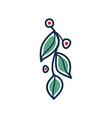icon of stylized twig vector image vector image