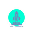 launch startup ship shuttle mission glyph icon vector image