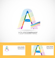 Letter A colored logo vector image vector image