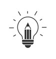 light bulb with pencil inside vector image vector image