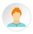 Male avatar icon flat style vector image