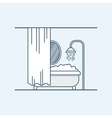 Modern interior design of a bathroom or shower vector image