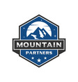 mountain emblem logo vector image