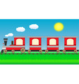 moving train on travel landscape vector image