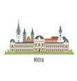 nitra city in western slovakia vector image vector image